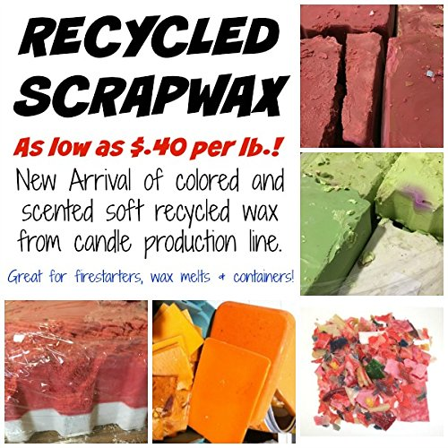Pack of 1, 50 Lbs. Scrap/Firestarter Wax for Recycled Candles