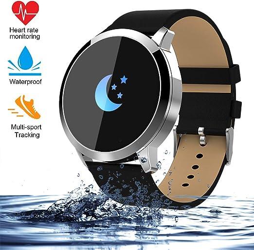 Smart watch Correa de Acero, Reloj Inteligente táctil, Largo ...