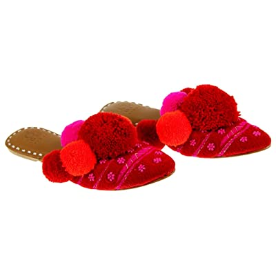 Figue for J Crew Pom Pom Pink Mules Size 10 Style G4540
