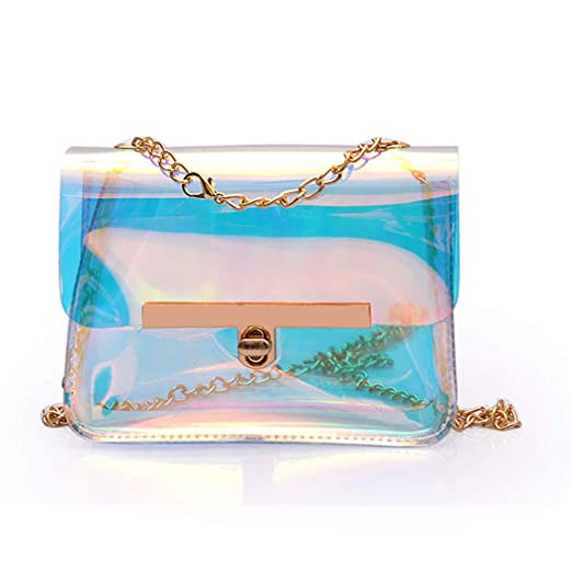 46754baf61 Image Unavailable. Image not available for. Color  Coafit Shoulder Bag  Chain Strap See Through Crossbody Bag