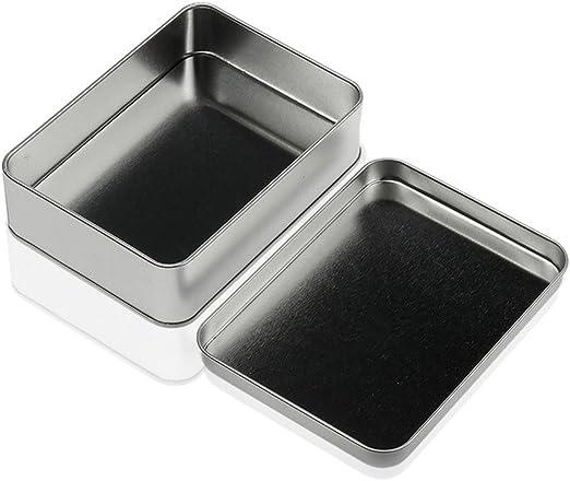 Outstanding® Pequeña Plata vacía Caja de Almacenamiento de Metal ...