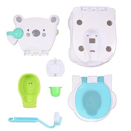 Voilamart Toilettentrainer mit Musik Kidskit Kindertopf Töpfchen Kindertoilette