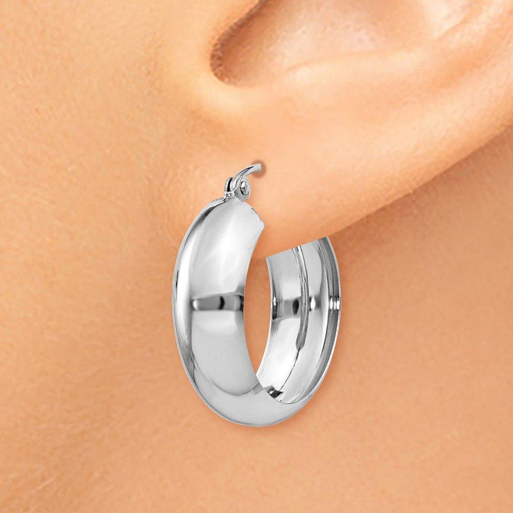14kt White Gold Hoop Earrings