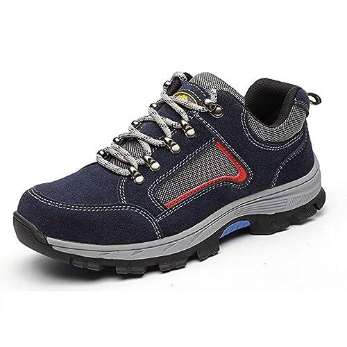 Calzado de Seguridad Hombre Mujer Antideslizante Zapatillas de Seguridad Deportivos Transpirables Calzado de Trabajo: Amazon.es: Zapatos y complementos