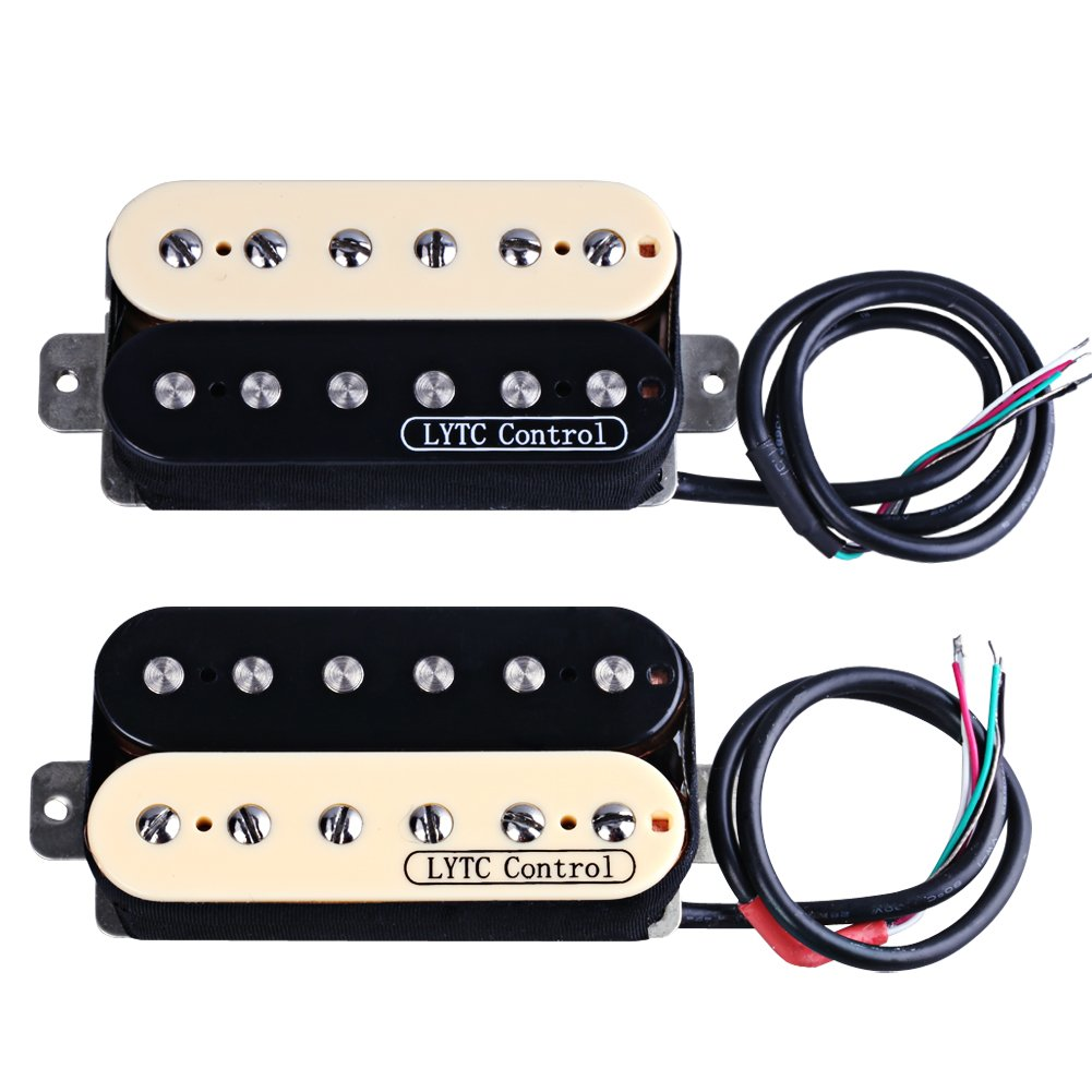 HS2 Electric Guitar Humbucker Pickup for Gibson Les Paul Replacement (Neck&Bridge) by Rocket (Image #1)