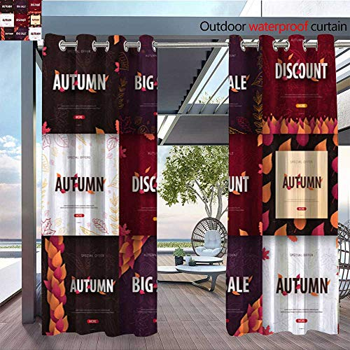 Patio Curtains Set-of-Autumn-Backgrounds-with-leaves-for-shopping-sale--promo-poster-and-frame-leaflet--web-banner--Vector-illustration-template-10.jpg Outdoor Curtain for Patio,Outdoor Patio Curtai
