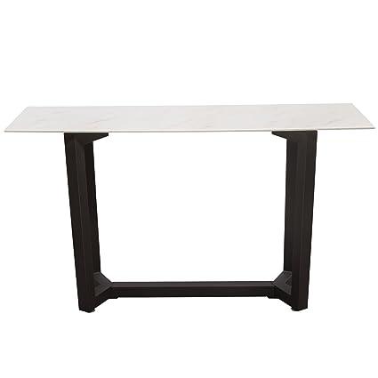 Amazoncom Caplan Rectangular Console Table With Ceramic Marble