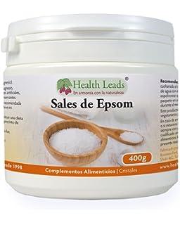 Sales de Epsom puros 400g | Calidad alimentaria | Sulfato de magnesio | Muy conocido por relajar músculos cansados y…