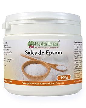 Sales de Epsom puros 400g | Calidad alimentaria | Sulfato de magnesio | Muy conocido por