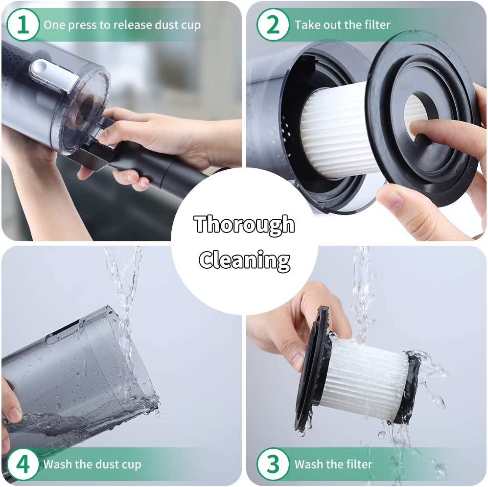 Powerful Wet Dry Vacuum for Home Pet Hair Car Cleaning Handheld-Vacuum-Cordless-Cleaner Cofuture Rechargeable Hand Vacuum Cleaner with Strong Cyclonic Suction and Motorized Rolling Brush