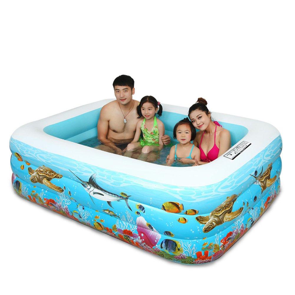 Home Baby Schwimmbad/Dicke große Planschbecken für Erwachsene/Familie-große Baby-Pool/Kinder aufblasbare Schwimmbecken-B