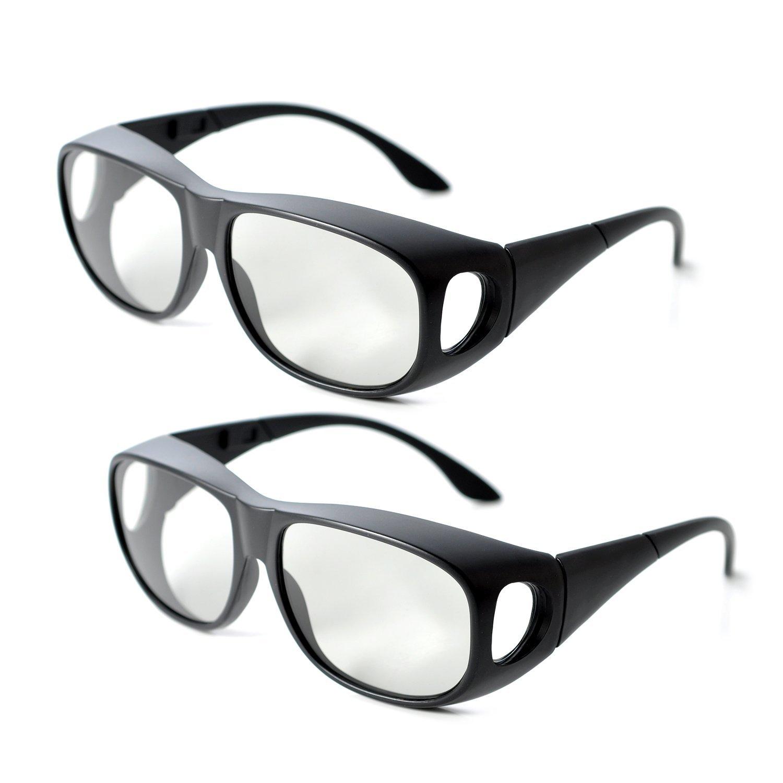 3D Glasses COMBO (1 Pair RealD + 1 Pair IMAX) Passive 3D Big Lens Eyeglasses for Cinema Movie Theatre Home TV