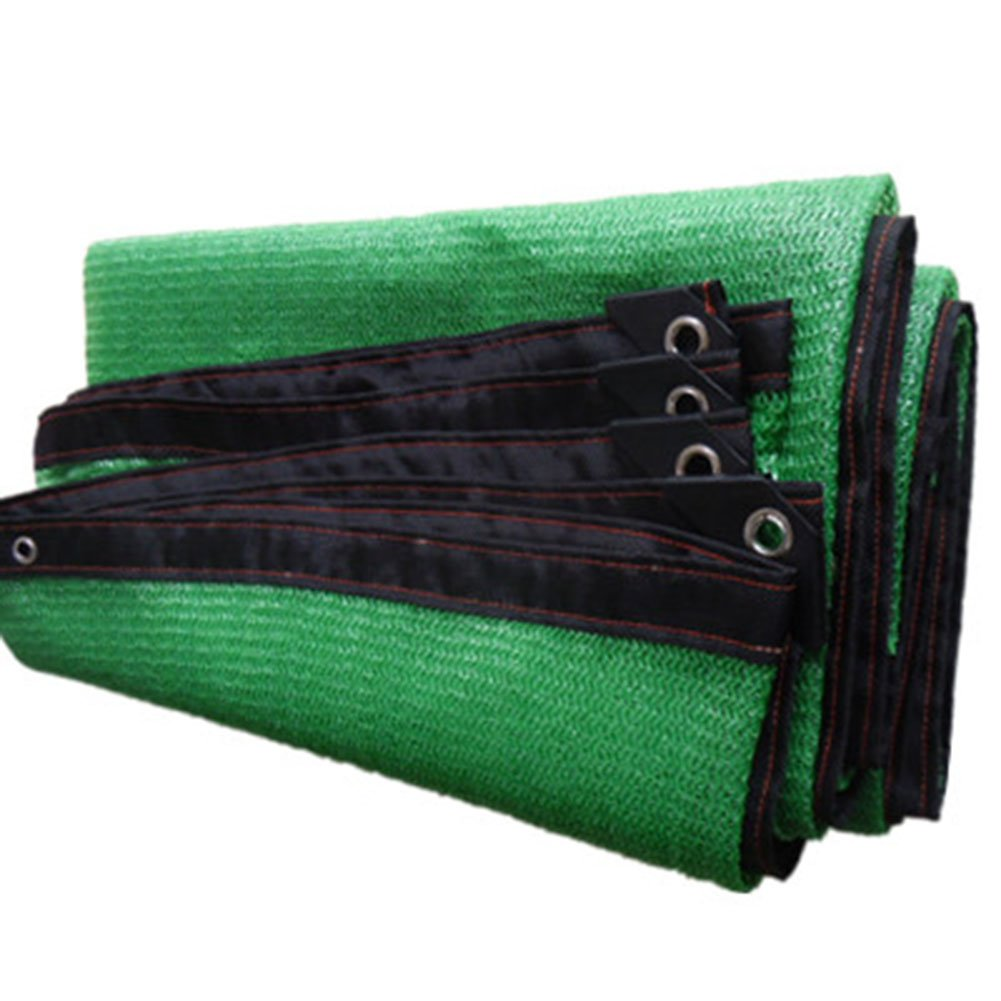 LIANGLIANG Rete Parasole Serre Antivento Ombreggiatura Traspirante Design Ormeggio Protezione per Fiori con Foro in Metallo Polietilene, Taglia 17 (colore   verde, Dimensioni   8x10m)