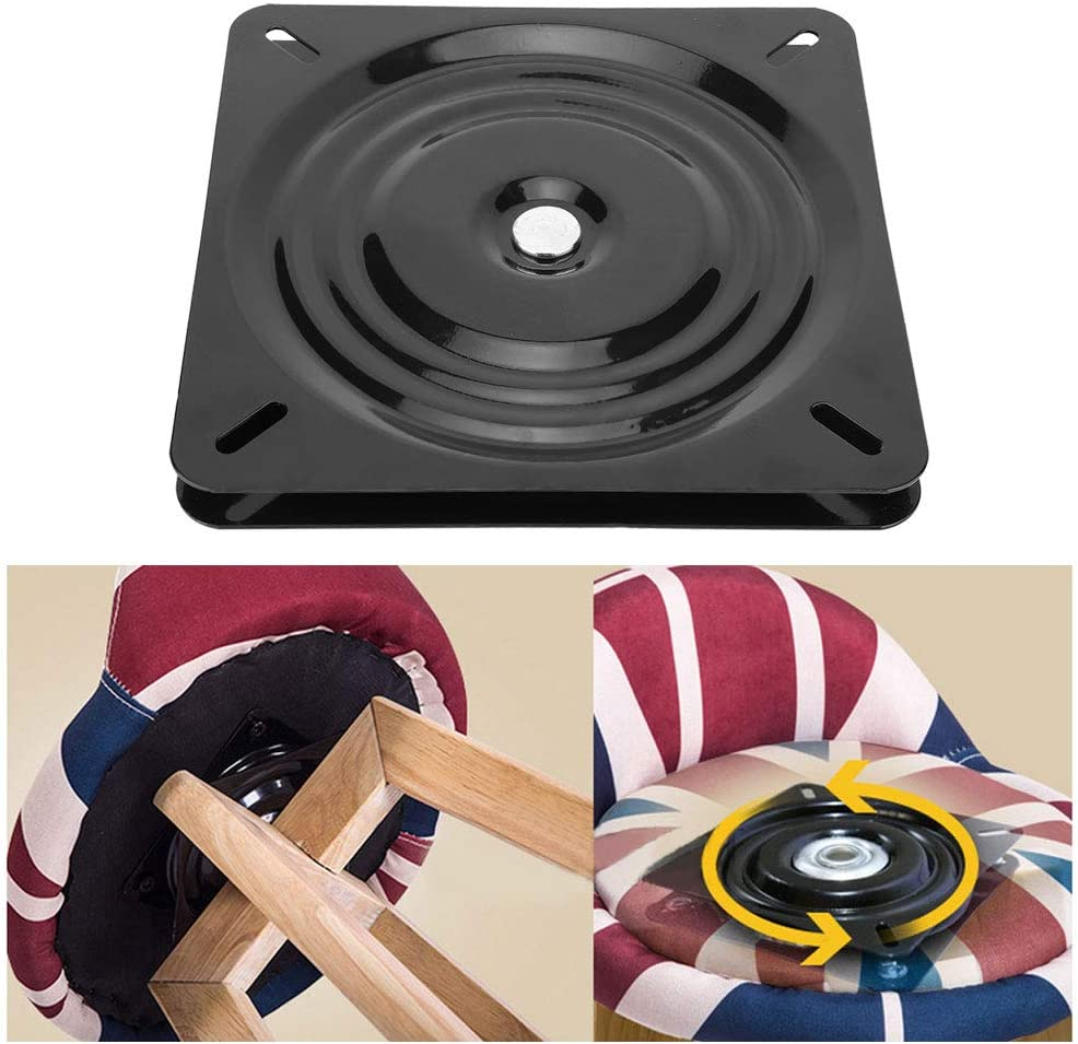 Fditt 10 Bar Stool Swivel Plate Replacement Swivel Ring Base for Recliner Rocker Chair Boat Seat with 360/° Ball Turntable Bearings