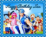 Lazy Town Edible Cake Topper & Cupcake Toppers - 10 x 16 (half sheet) rectangular