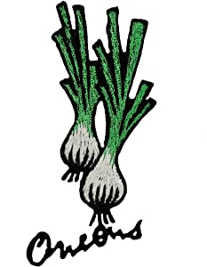 ID 1292E Wild Onions Patch Vegetable Garden Cooking Embroidered Iron On Applique