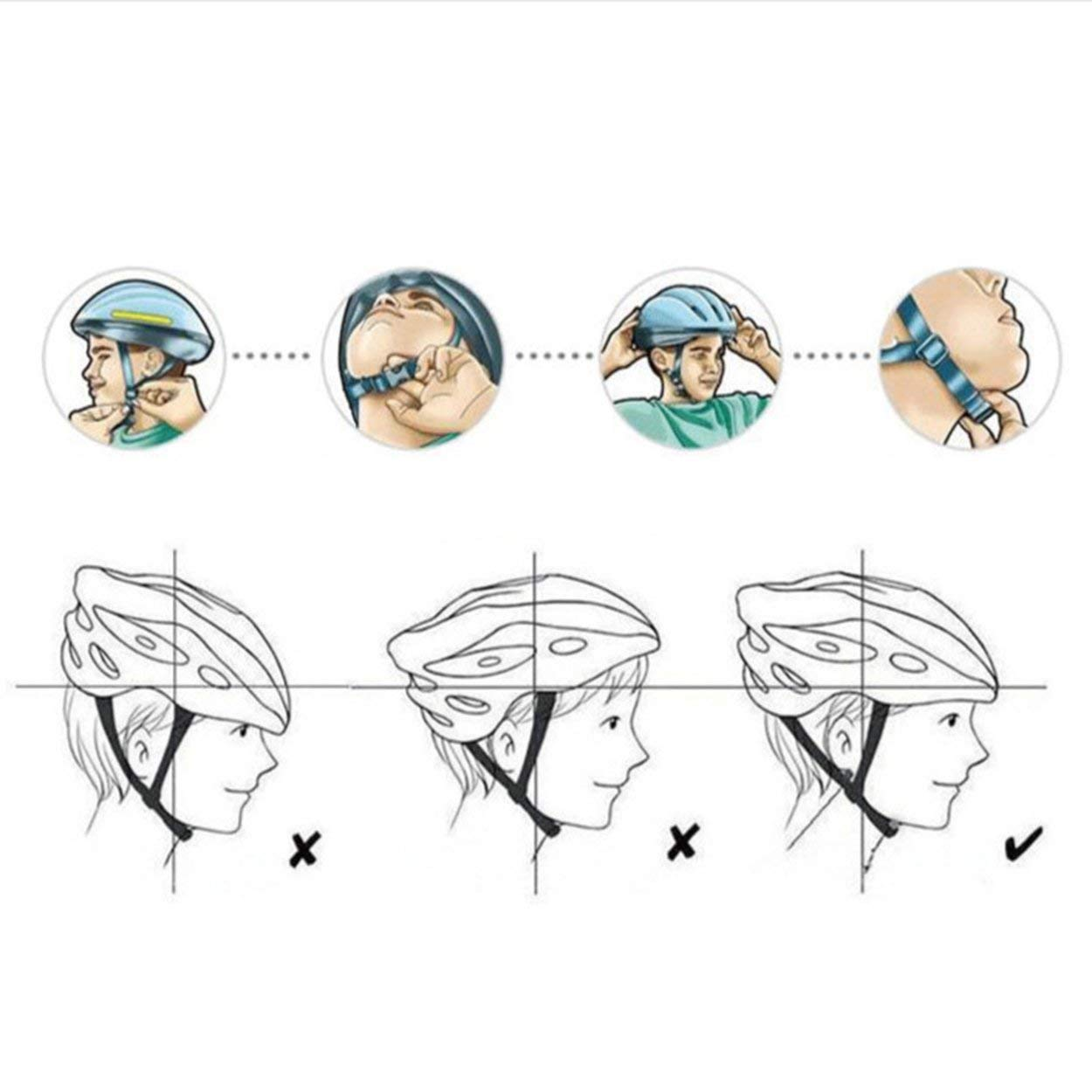 anyilon for Bike Helmet Cycle Helmet Adjustable Thrasher for Adult with Detachable Liner with Water and Dust Resistant Cover