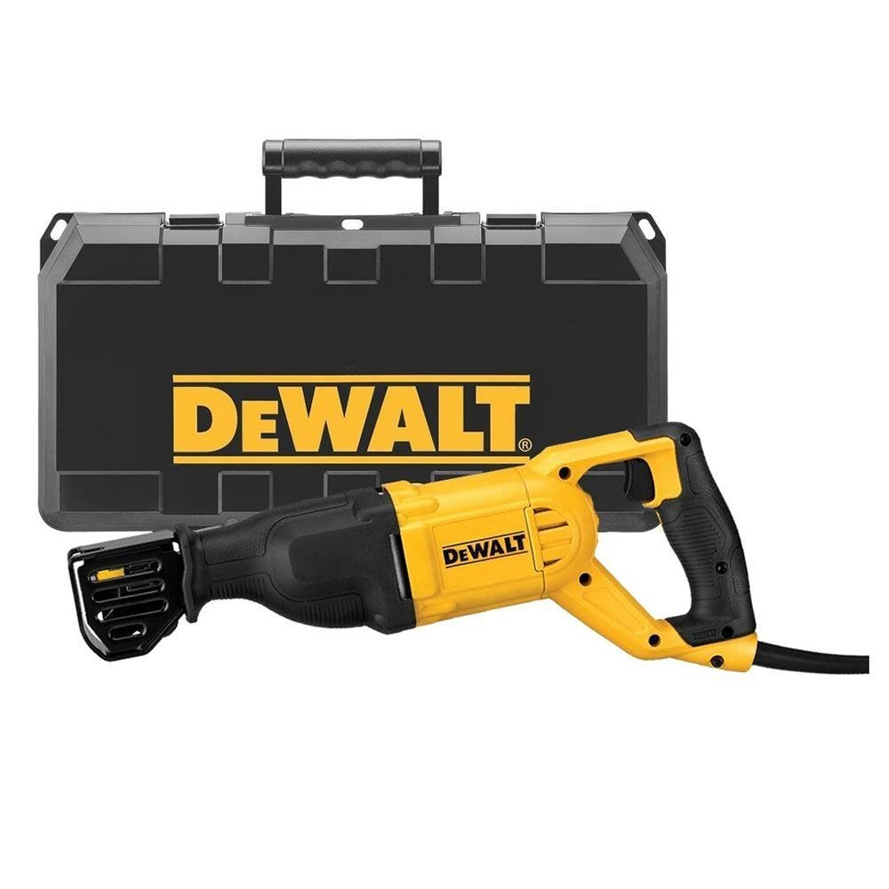 DEWALT DWE305PK-QS Scie sabre filaire - 1100W - Spéciale applications difficiles - Course à vide 0-2800 cps/min - Course de la lame 29 mm - Fixation 4 positions - Mallette de transport robuste product image