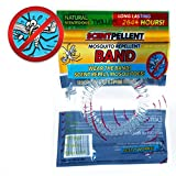 Mosquito Repellent 10-Pack 10 Bands 2,640+ Hours Premium Flexible Waterproof Bands for Adults & Kids! No Spray, Deet-Free, w/ 100% All Natural Fresh Scent, & Safe for Kids! Includes Resealable Bag