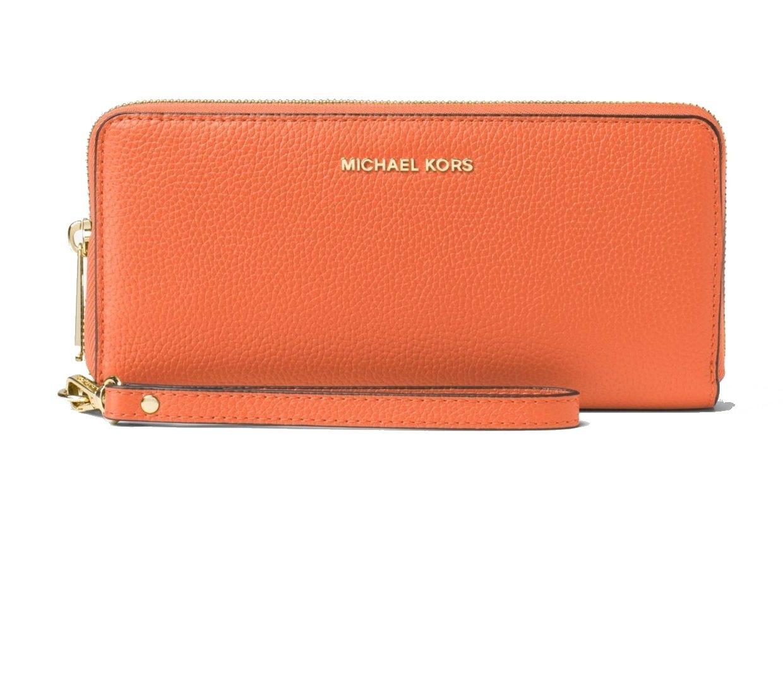 MICHAEL Michael Kors KORS STUDIO Mercer Travel Continental Wallet Orange