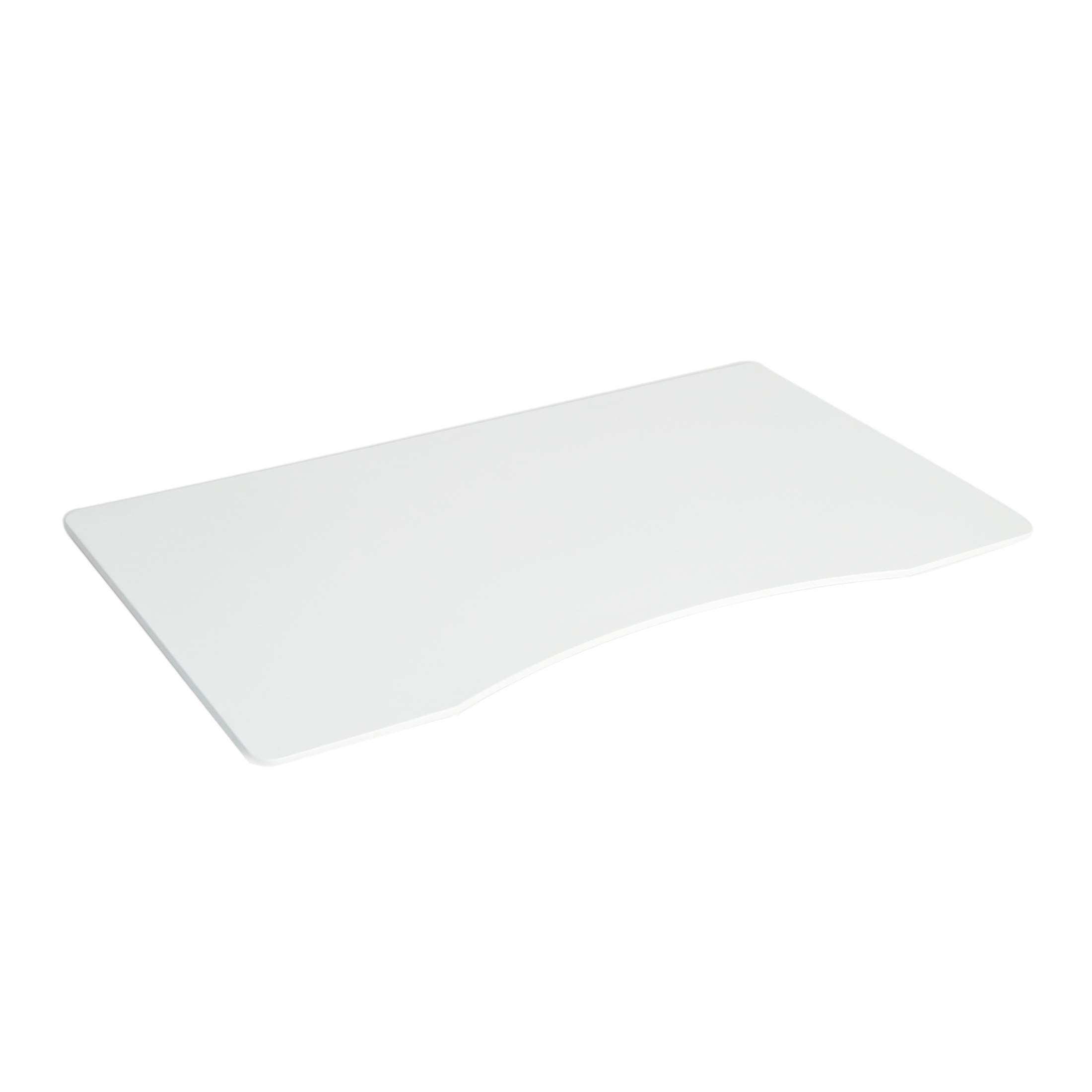 Seville Classics Ergo Desk Table Top with Beveled Bottom Edges, 54'' x 30'', White