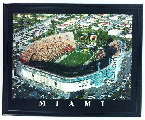 Framed University of Miami Stadium Aerial Stadium Print Wall Art F7588A