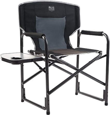 Sillas De Camping Plegable Resistente De Lujo Acolchado Respaldo Alto Silla de director al aire libre