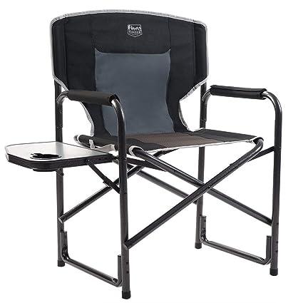 Amazon Com Timber Ridge Director S Chair Folding Aluminum Camping