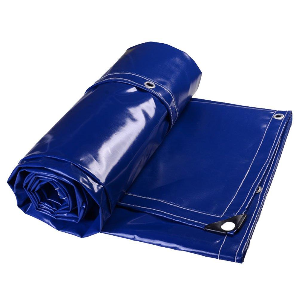 CHAOXIANG オーニング 折りたたみ可能 厚い 両面 防水 耐高温性 日焼け止め 耐寒性 耐摩耗性 老化防止 耐食性 PVC 青、 500g/m 2、 厚さ 0.5mm、 20サイズ (色 : 青, サイズ さいず : 3x5m) B07D8TWWMK 3x5m|青 青 3x5m