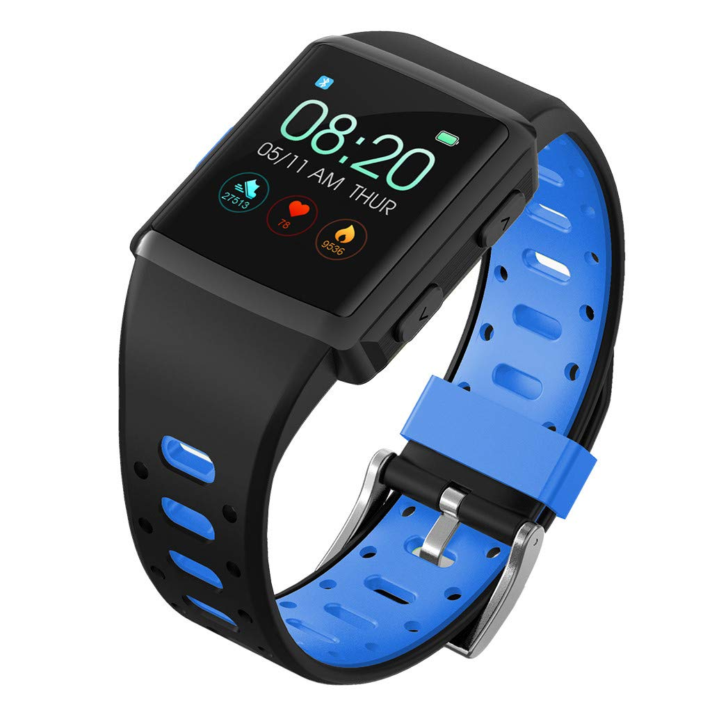 WELCOMEUNI Sport Smart Watch Blood Pressure Heart Rate Monitor with Sports Mode Activity Tracker for iOS Android