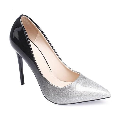 doux et léger chaussures classiques style attrayant La Modeuse - Escarpin Stiletto Vernis dégradé à Paillettes ...