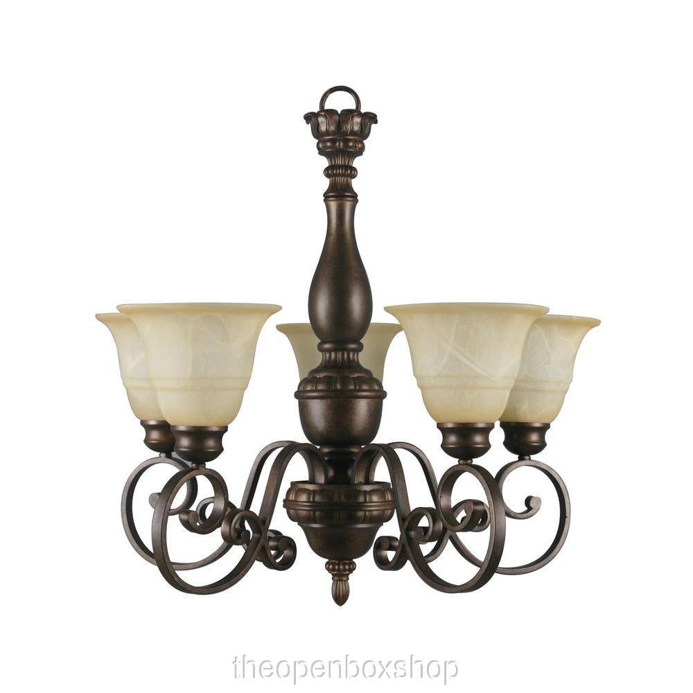 amazon com hampton bay carina 5 light chandelier electronics
