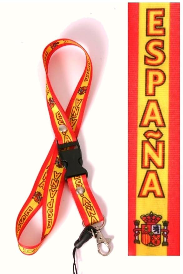 Halsband Strap Schl/üsselband Landyard SPANIEN Espana Keyholder