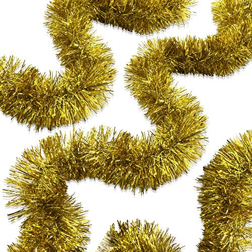 Best gold tinsel garland thick for 2020