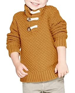DealBro Black100/% Cotton Knit Pullover Sweater for Boys 12M-4T