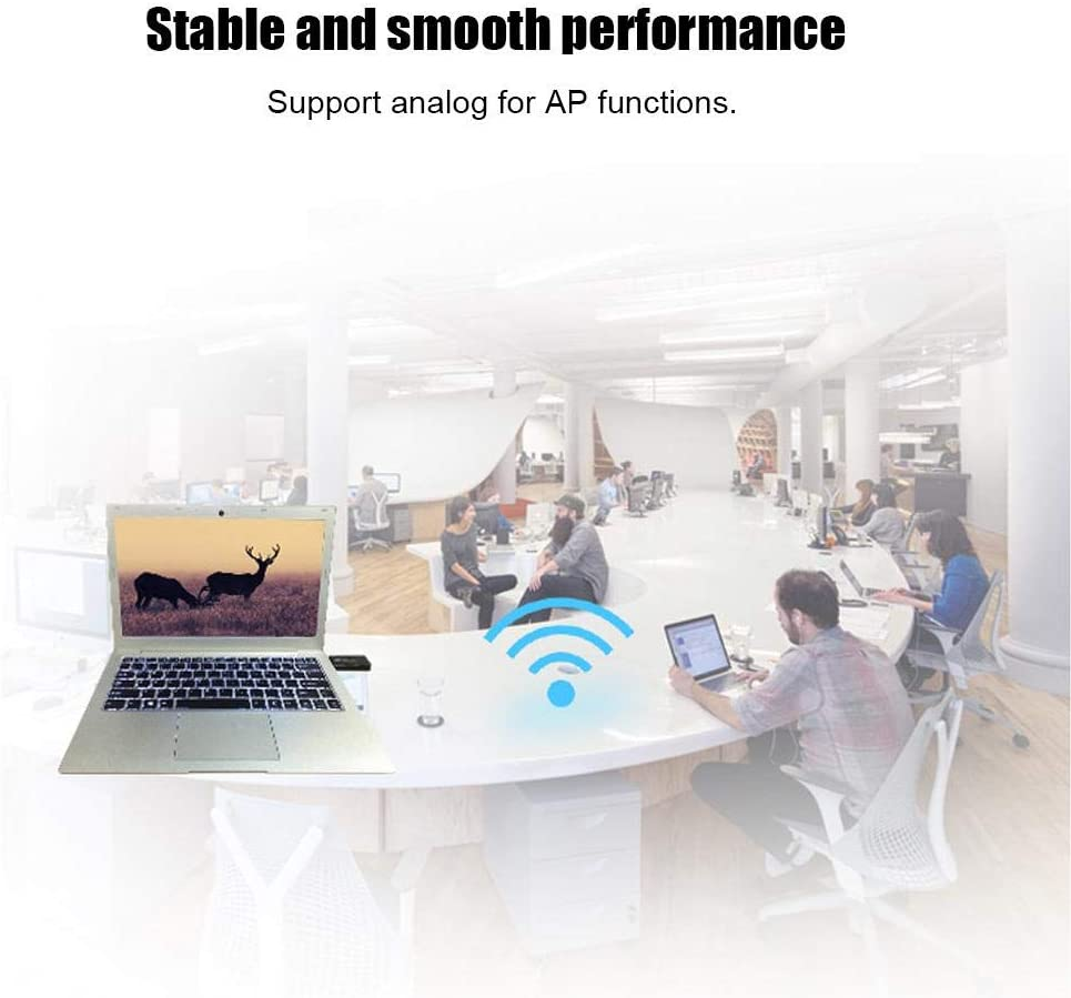 Tangxi Dual-Band Wireless USB Network Adapter 11AC 1200M Dual Band 2.4Ghz//5Ghz WiFi Bluetooth 4.1 USB 3.0 Network Card Support Analog AP Function for WinXP//VISTA//7//8//10