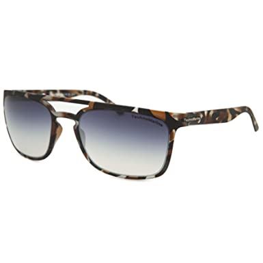 47861e0ff04 Technomarine Manta Ray TMEW006 Sunglasses Rectangular Frame - Made in Italy  Grey Lens Brown camouflage