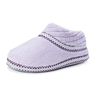 MUK LUKS Rita Micro Chenille Full Foot Slippers(Women's) -Lilly White Clearance Release Dates Amazing Price Sale Online Zuwk7c0zAL