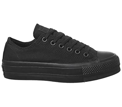 Converse Damen CTAS Clean Lift Low Sneaker Schwarz: Amazon.de ...