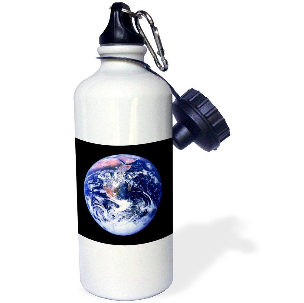 21 oz 3dRose wb/_1246/_1 Planet Earth Sports Water Bottle White