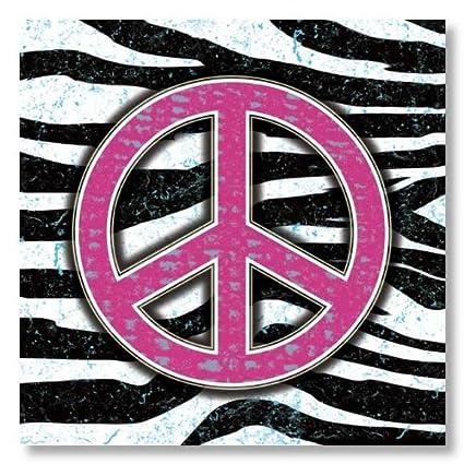 Amazon.com: Zebra Peace Sign by Louise Carey 12x12 Art Print Poster ...