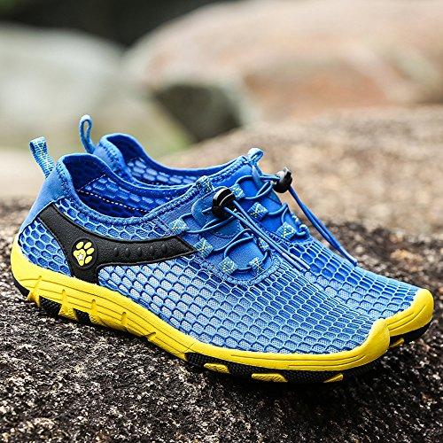 EnllerviiD Women Mesh Slip On Quick Dry Water Shoes Casual Seaside Beach Shoes 532 Dark Blue UZo1W5