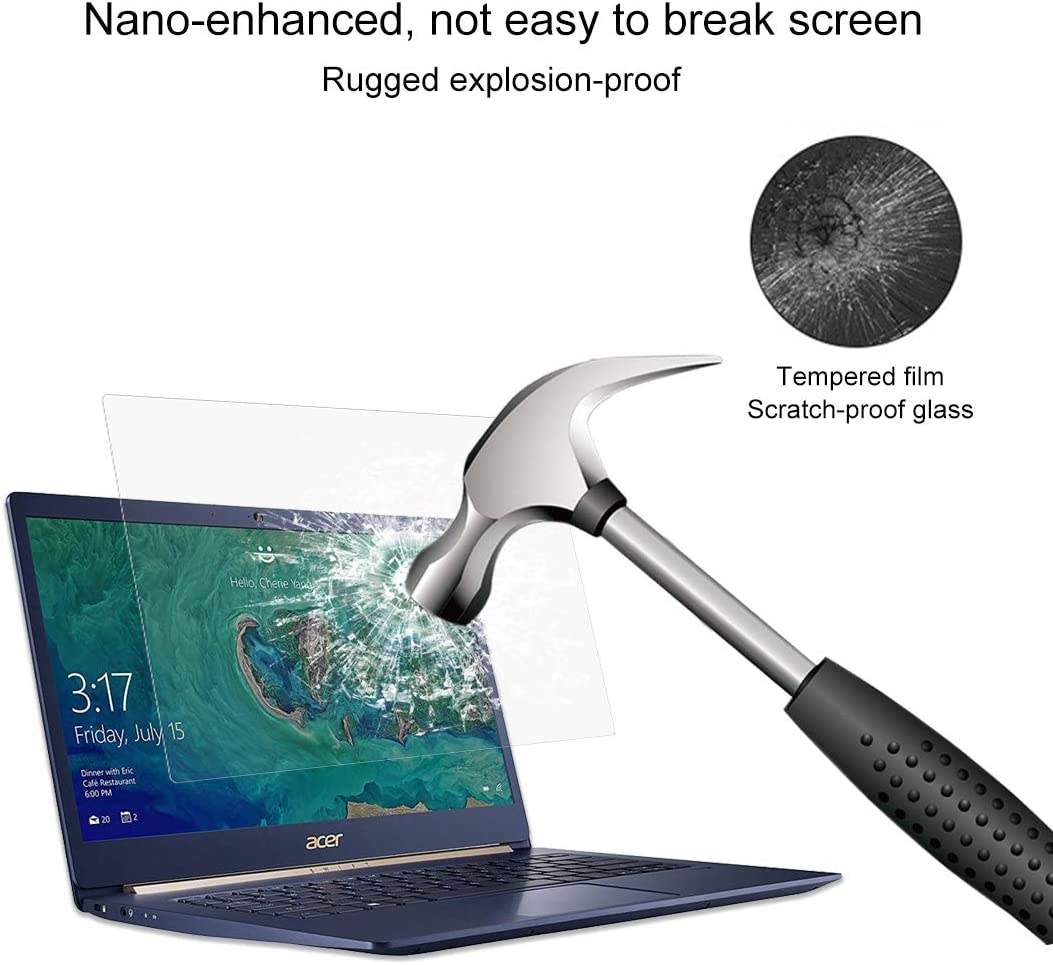 SF514-52T-82WQ 14 Inch Durable Laptop Screen HD Tempered Glass Protective Film for Acer Swift 5 Laptop