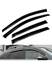 Atomsonic AMS1560 Black N/A Atomsonic Sun/Rain Guard Vent Shade Window Visors Tape-On Wind Deflector 2007-2011 Honda CRV...