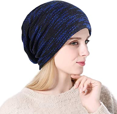chunky for women and teens. Black Beanie hat with cozy warm fleece lining perfect gift