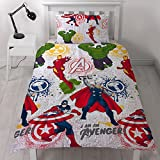 Marvel Avengers Mission Single Duvet Set & Matching 66' x 72' Curtains (168cm x 183cm)