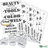 vintage cotton ball container - Bathroom Beauty Preprinted Labels, Organization Set. 72 Clear PVC Stickers by Talented Kitchen. 72 Water Resistant Label Set to Organize Bathroom Vanity, Cabinet & Closet (Set of 72 - Bathroom Titles)