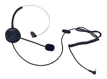 Coodio Teléfono fijo inalámbrico DECT Auriculares [Manos libres] 2,5mm Monaural Auricular con