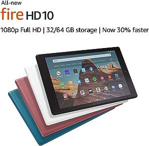 """All-New Fire HD 10 Tablet (10.1"""" 1080p full HD display, 32 GB) – Plum"""