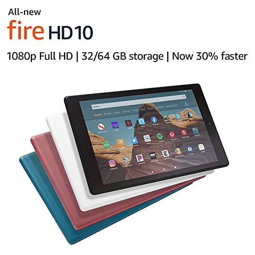 "All-New Fire HD 10 Tablet (10.1"" 1080p full HD display, 64 GB) - Black - without Special Offers best gifts for grandpas"